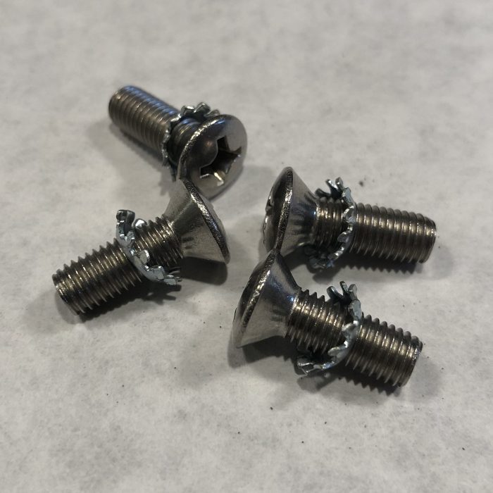 34-47 Dodge Door Latch Screws and Star Washers