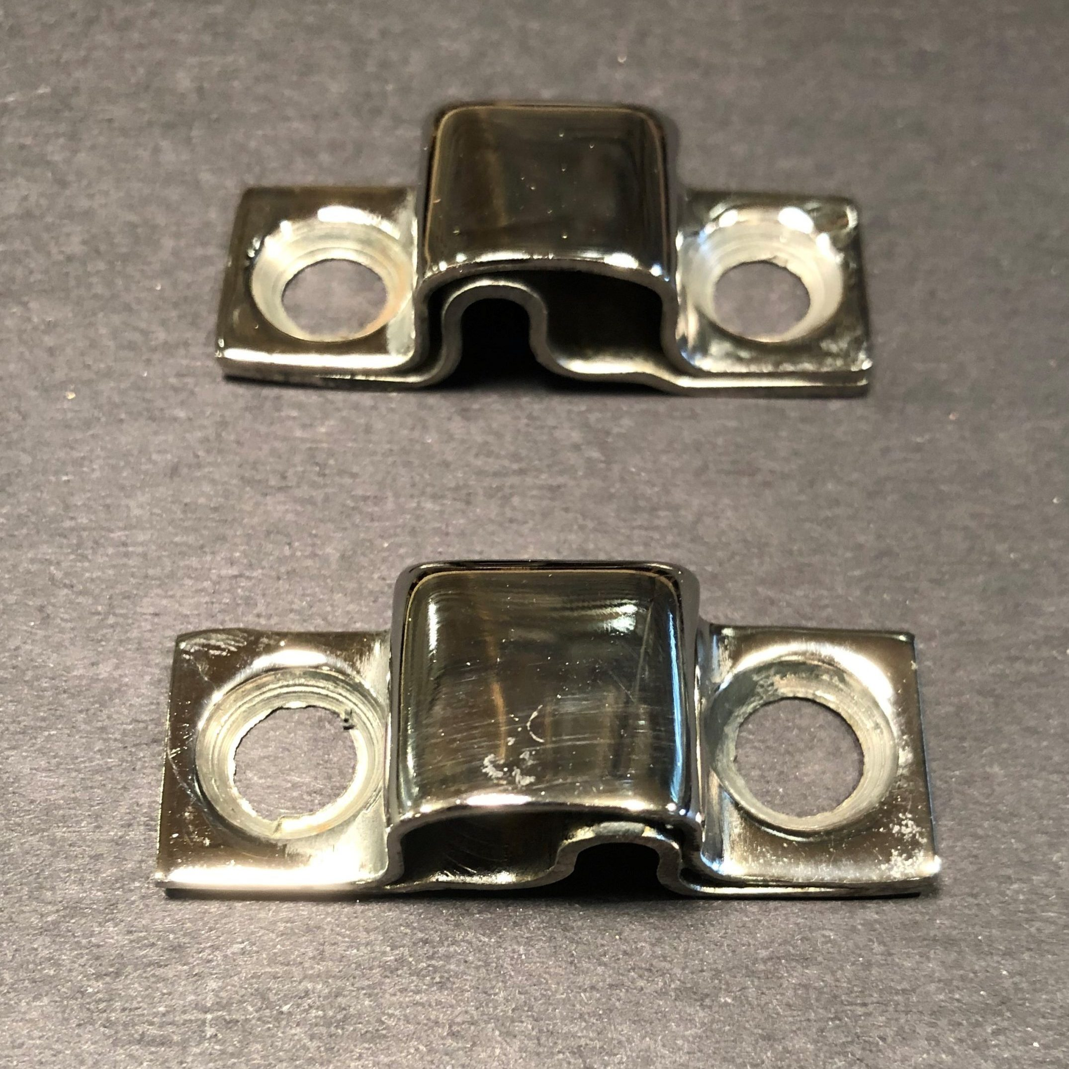 Dodge Truck Front & Rear Hood Hinge Clips – Nickel Plated
