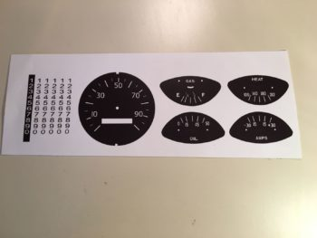 34-36 Dodge Truck Speedometer And Gauge Graphics