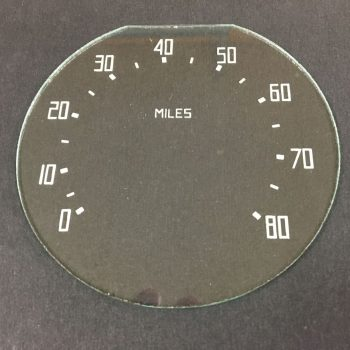 1937-38 Dodge Truck Speedometer Glass Lens