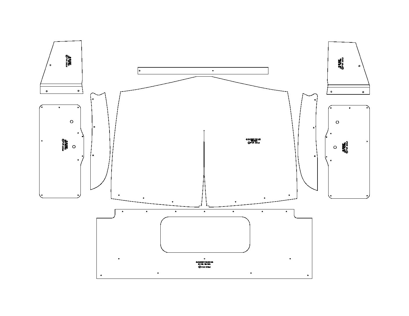 48-50 Dodge Truck Standard Interior Kit-(Hump Door Panels)