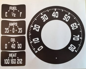 48-53 Dodge Truck Speedometer/Gauge Graphics