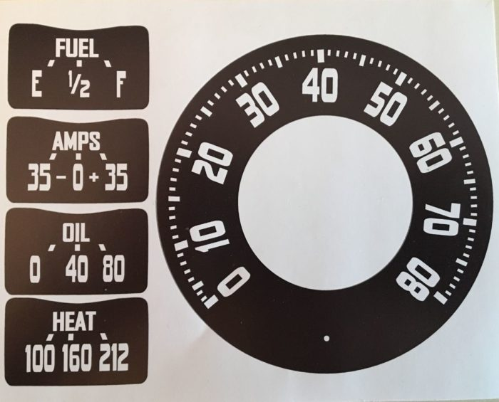 48-53 DODGE TRUCK SPEEDO and GAUGE GRAPHICS