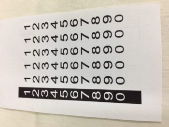 Odometer Number Decal Set