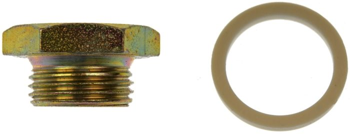 oil drain plug with sealing washer